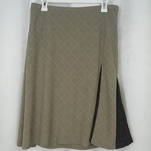 Lane Bryant Plaid Skirt With Lace Size 18